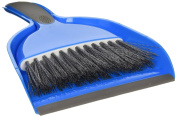 One Small Hand Broom with Snap-on Dust Pan, Colours may vary