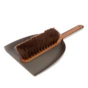 Iris Hantverk Dustpan & Brush Set, Handmade, Grey