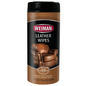 Weiman Leather Wipes - Cleaner & Conditioner, 30 count