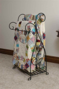 J & J Wire Scrolled 2-Piece Quilt Rack