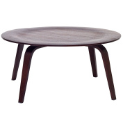 LexMod Moulded Fathom Coffee Table in Wenge