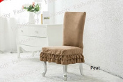 Octorose ® Soft Micro Suede Shortly Dining Chair Covers