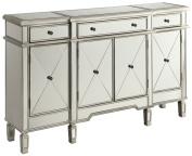 Accent Cabinet Antique Silver