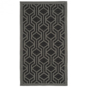 Safavieh CY6114-225 Courtyard Collection Indoor/Outdoor Area Rug, 0.6m by 0.9m, Black/Anthracite