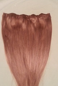 46cm 100% HALO Human Hair Extensions (ONE PIECE NO CLIP) #27 Strawberry Blonde