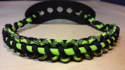 Muddy River Gear Archery Bow Wrist Sling Outbreak Black and Single Line Neon Green