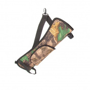 Portable Archery Quiver Arrow Holder Bow Back Side Waist Hanging Buckle Zip Pocket