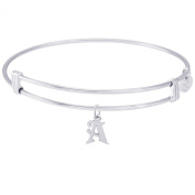 Rembrandt Initial A Charm Expandable Wire 'Noble' Bangle
