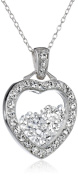 Sterling Silver Floating Crystal Chain Pendant Necklace, 46cm