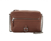 Ash Riley Perforated Leather Chain Strap Crossbody, Saddle
