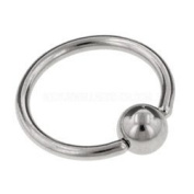 Stainless Steel 10mm Ball Closure Ring with 3mm Ball Eyebrow Helix Tragus Nose Lip Piercing
