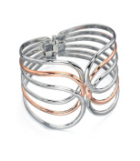 Fiorelli Costume Core Rose and Silver Cut Out Bangle