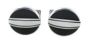 Oval - Horizontal Stripe Cufflinks