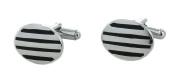 Oval - Horizontal Stripes Cufflinks