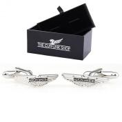 Stainless Steel Men's Novelty Design Aston Martin Car Logo Badge Cufflinks with Luxury Gift Box