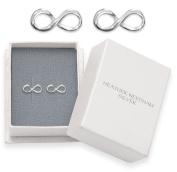 Sterling Silver Infinity Stud Earrings - SIZE