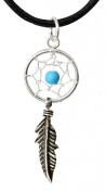 Silver dreamcatcher available as aset of hoop, hook, stud earrings and pendant by Shalalla London