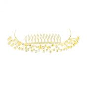 Mytoptrendz Gold Plated Diamante Comb Tiara