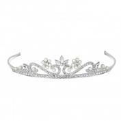 Jon Richard Childs pearl and crystal flower tiara Silver