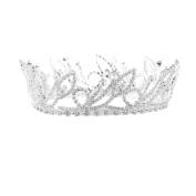 Silver Plated Diamante Coronet Tiara