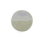 Gekko Body Jewellery Acrylic Tunnel Plug / Ear Stretcher with Clear Liquid Glitter - 8mm