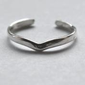 925 sterling Silver Adjustable Toe Ring Plain V