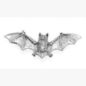 Pewter Bat Pin Badge or Brooch Gift for Scarf, Tie, Hat, Coat or Bag