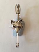 "A72 Fox Head 2 kilt pin Scarf or Brooch pin pewter emblem 3"" 7.5 cm handmade in sheffield"