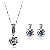 La Vivacita 18ct white Gold finish Delicate Beauty jewellery set with. Crystals High quality gift