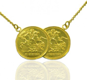 Half Sovereign St.George Coin Necklace. Gold.