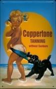 Coppertone Suntan metal postcard / mini sign