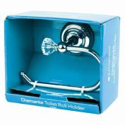 Chrome Crystal Bathroom Accessories Silver Sparkle Diamante Toilet Roll Holder