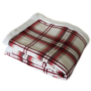 Catherine Lansfield Kelso Sherpa Throw - Red