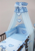 Luxury Baby Cot Bed Crown Canopy / Mosquito Net 480 cm Only HEART - BLUE
