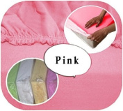 Junior Cot Bed JERSEY Fitted Sheet 140x70cm 100% Cotton - PINK