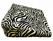 Pregnancy Maternity Large Comfy Back & Bump Support Wedge Cushion Pillow - ZEBRA BLACK & WHITE - WITH QUILTED COVER - 30x30cm