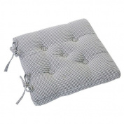 Yorkshire Linen Auberge Country Gingham Seat Pad Seat Pad Cobble