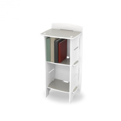 Legare Skateboard Bookcase, 179 x 90 x 58 cm, White and Titanium