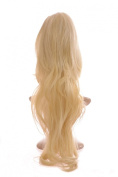 Light Blonde Hair Crown XL | 70cm Long Wavy Volumiser Hairpiece | Volume Crown Top Piece