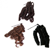 Hairpieces 3 strand of hair black brown russet Hairstyling