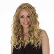 Biki | Long Strawberry Blonde Glamorous Wavy Lace Front Wig | Strawberry Blonde to Bleach Blonde Ombre