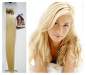7-Piece Clip-In Extensions Set 45 cm 100% Real Hair No. 60 White Blond