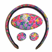 Hair Accessories Set tyre clasp colourful floral design jewellery set