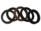 Elastic hair band, cotton, mixed colours, 45mm, 5 PCs/bag, sold by bag