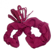 Pack of Burgundy School Scrunchie and Elastics