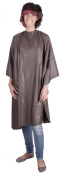 Professional BROWN Deluxe Hairdressing Gown - Heavy Duty, Water-Repellent, Adjustable Neck