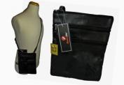 Mens Mans Soft Leather Travel Pouch Man Bag Neck Shoulder Holster MEDIUM LARGE Bags RL117M