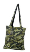 Camouflage Flower bag is a bag to bag reversible (2 bags 1) changes colour in 1 second. A shopping bag made of 100 % made in Italy