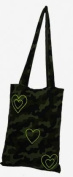 Camouflage -Heart - Bag is a bag to bag reversible (2 bags 1) changes colour in 1 second. A shopping bag made of 100 % made in Italy