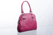 Bolla Bags Leather Twin Handle Zip Around Bag with Detachable Shoulder Strap